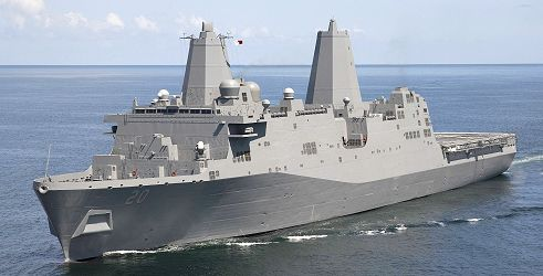 This is a picture of the USS Green Bay LPD 20.